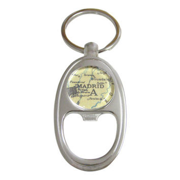 Madrid Map Bottle Opener Key Chain