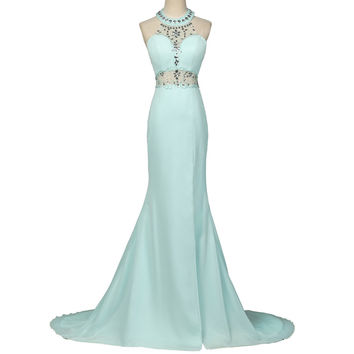 Shop Blue Ombre Prom Dresses on Wanelo