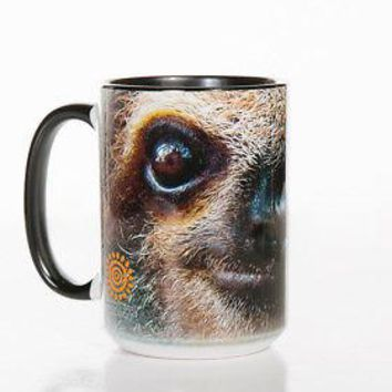 New SLOTH FACE 15 OZ CERAMIC COFFEE MUG   the mountain