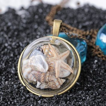 Long Beach Marine Elements Pendant Necklace