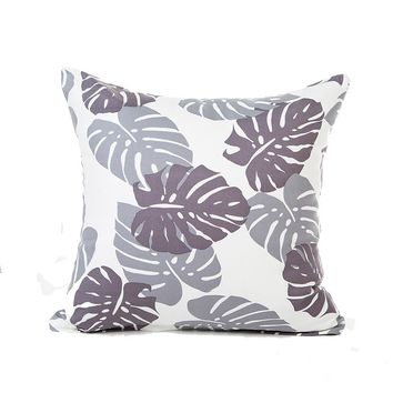 Home - Leaf Print Pillow Cover