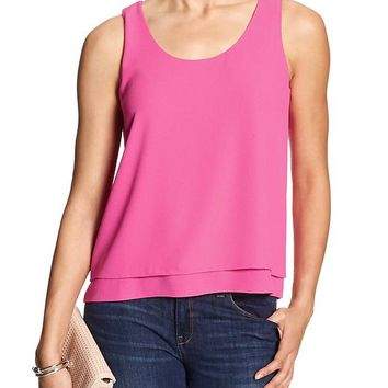 Banana Republic Womens Factory Layered Hem Tank