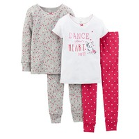 Carter's ''Dance Your Heart Out'' Pajama Set - Toddler Girl, Size: