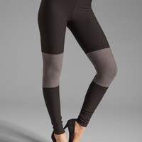 Plush Color Block Legging in Black and Heather Grey