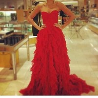 red evening dress! - inspiring picture on Favim.com
