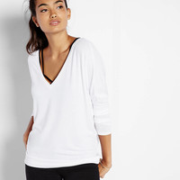 express one eleven dolman sleeve banded bottom tee