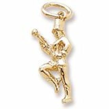 Majorette Charm In Yellow Gold