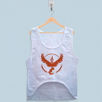 Women's Crop Tank - Pokemon Go Valor Team