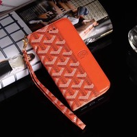 Orange Half Monogram Wallet/Card Holder