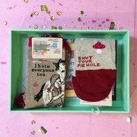 Love Your Introvert / I Hate Everyone Gift Box in Mint Green