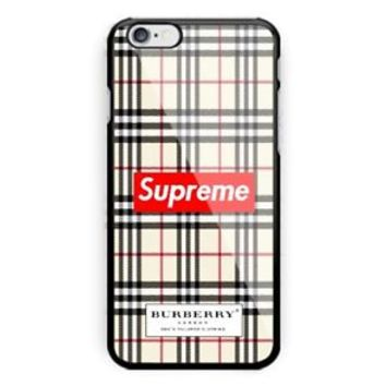 New Supreme Burberry01 iPhone 7 and 7+ Hard Plastic Cover Case