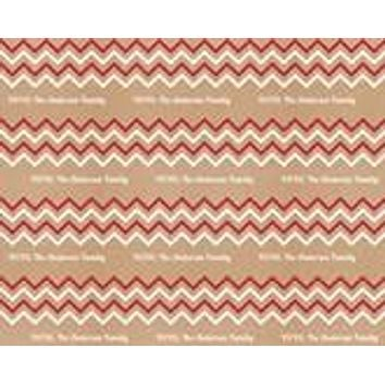 Personalized Chevron Wrapping Paper 6ft