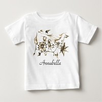Elegant Chic Whimsical Enchanting Exotic Sepia Baby T-Shirt