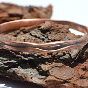 Diamond Cut Bangle, Copper Bracelet, Copper Jewelry, Black Patina, Stacking Bangle, Unisex Jewelry, Patina Jewelry, Unisex Jewelry, Soldered