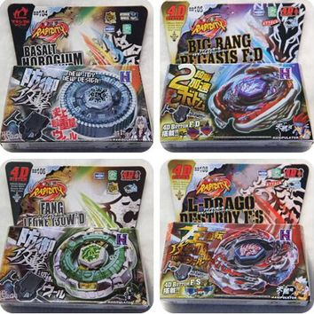 New Arrive!! 16pcs/lot 30 Style BB104-BB128 4D Metal Beyblade with Launcher   Christmas Children Day gift