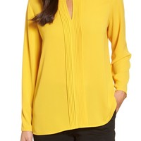 Chaus Pintuck Front Blouse | Nordstrom