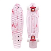 Penny Skateboards USA Nickel Marble White Red Skateboard | Penny Skateboards