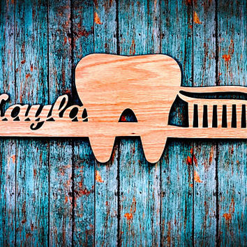 Personalized Wooden Dental Hygienist or Assistant Sign