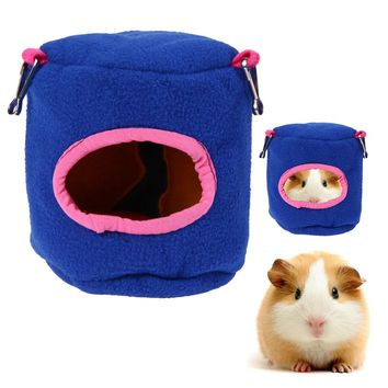 Guinea Pig Hamster Cage Bed Small Animal House Bird Nest Chinchillas Squirrel Bed Guinea Pigs Cute Pet Hamster Products Hot Blue