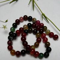 20 Mixed Agate Round Gemstone Beads 8mm €2.50