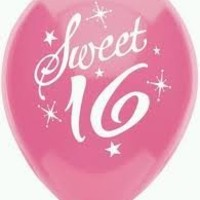 Sweet 16 Birthday Party Balloons - 16th Birthday Balloons (8