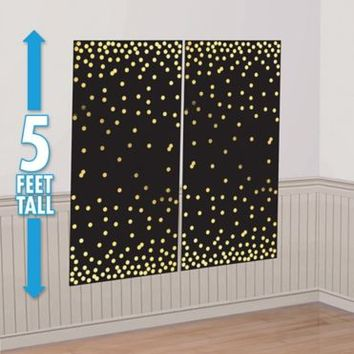 Gold Dots Scene Setter 65in x 65in | Party City