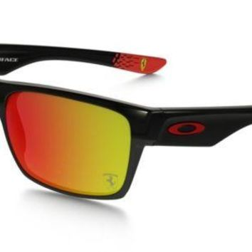 Oakley Two Face Ferrari Sunglasses Polished Black Ruby Iridium OO9189-36