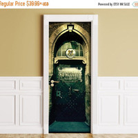 Sticker for Door / Wall / Fridge - Hogwarts. Peel & Stick Removable Mural, Skin, Cover, Wrap, Decal, Poster