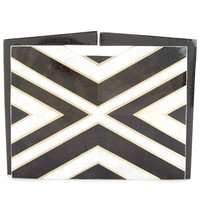 Nathalie TradShell Geometric Webster Clutch