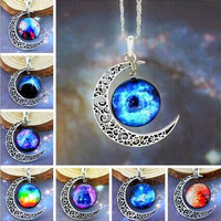 Galaxy Silver Necklace & Pendant