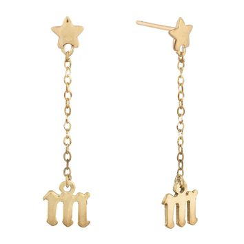 Star / Gothic Initial Earrings