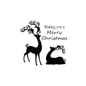 Christmas Stamp Reindeer, christmas card stamp, gift tag stamp, gift wrap, DIY Christmas
