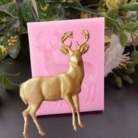 Deer Pattern DIY Tree leaf Press Molding Foil Mold Silicone Mold Cake Decor Fondant Cake 3D Silicone Mould kitchen accessories