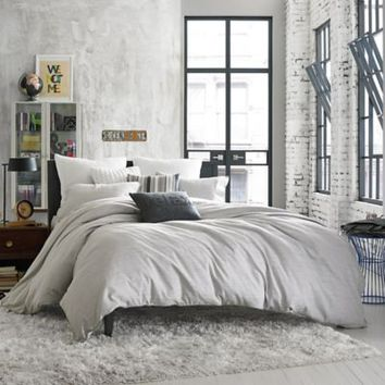 Kenneth Cole Reaction Home Elements Reversible Duvet Cover in Grey