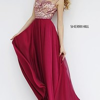Long Open Back Formal Dress 1962 by Sherri Hill