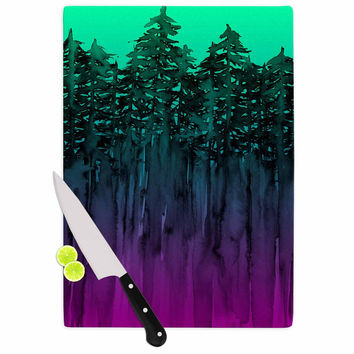 "Ebi Emporium ""Forest Through The Trees 9"" Purple Black Cutting Board"