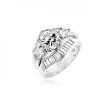 Two-piece Engagement Ring Set (size: 09) (pack of 1 ea)