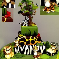 Go Jungle!! by KarenPadilla on Cake Central