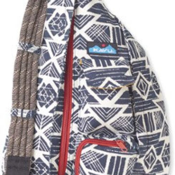 Monogrammed Kavu Rope Bags - Arctic Tribal - Great gift for College, Teens, Women, Outdoors Satchel Crossbody Tote