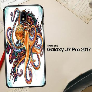 Octopus Ink V1619 Samsung Galaxy J7 Pro SM J730 Case