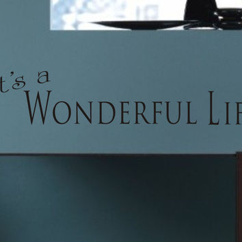 It's a Wonderful Life wall quote