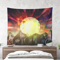 Wall Tapestry With Colorful Wanderlust Artwork, Original Art, Nature Art, Wanderlust Tapestry, Boho Wall Decor, Home Decor, Large Wall Art