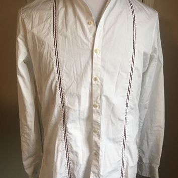 DSQUARED² Unique Men's White Dress Shirt Size 52 It Made In Italy - Rare