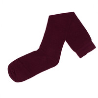 3-Pack Flat Knit Knee High Socks with Comfortoe Technology Socks (Maroon)