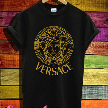 versace shirts inspired medusa shirt tshirt t-shirt tee shirt printed black and white color unisex size