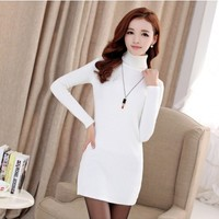 Women : Mini Bodycon Knit Dress YRB0595