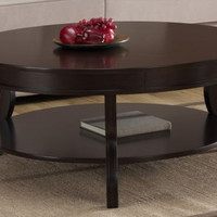 Stylish Coffee Table Shelf For Storage Living Room Furniture Espresso Finish New