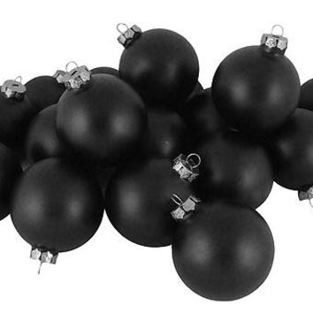 48 Christmas Ornaments - Matte Black