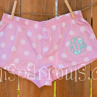 Monogrammed Ladies Boxer Shorts by MiniSparrows on Etsy