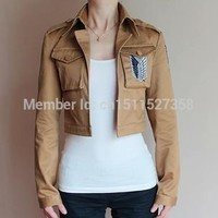 Cool Attack on Titan New Japanese anime  Jacket cosplay costume no  Eren Jaeger Jacket 5 Size Embroidery tag blue wing AT_90_11